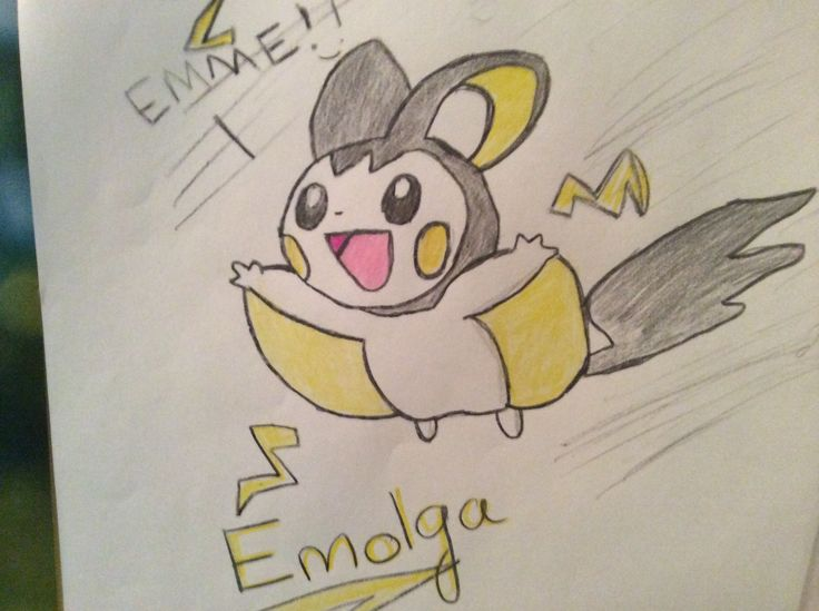 Emolga! The flying squirrel Pokemon. They often live in the wild shocking people and other Pokemon.