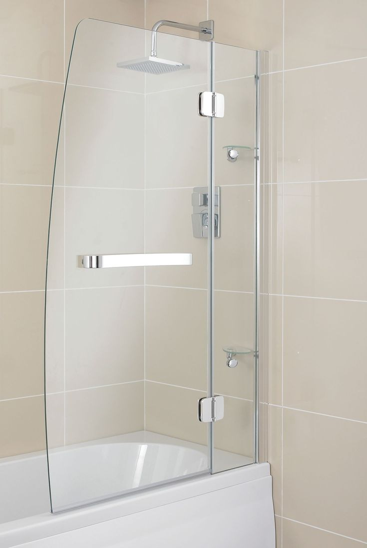 Cooke and lewis bathroom mirrors - Cooke Lewis Seine Straight 2 Panel Folding Sail Bath Screen W 950mm