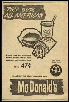 McDonald's vintage advertising