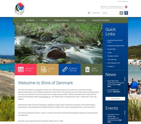 The Shire appointed Exa to create a one-of-a-kind website to market its services to visitors and support for local businesses and residents employed in these industries.Using the latest marketing strategies, Exa has successfully promoted the Shire of Denmark with a strong online presence.