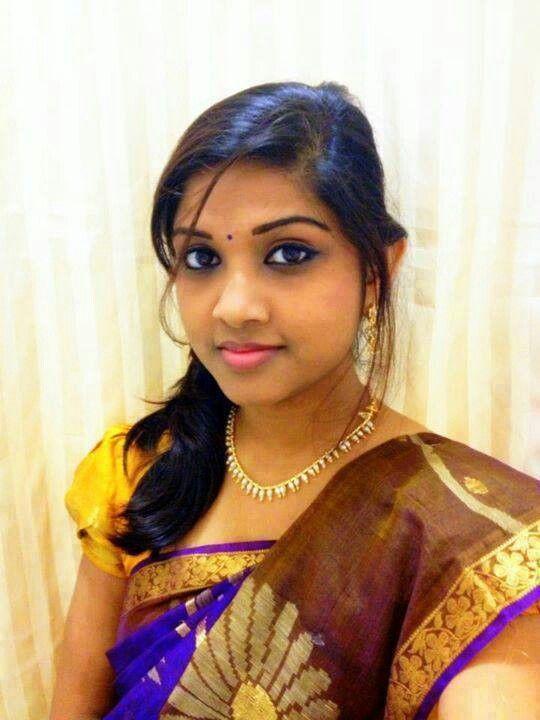 Tamil Ponnu  Hair Beautycat, Designer Blouse Patterns, Tamil Girls-7908
