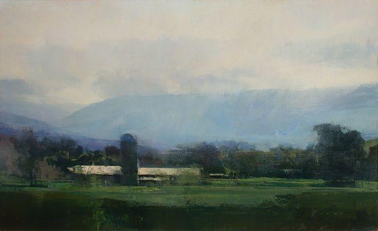 """2010      Summer, 16"""" x 36""""         Last Light, 20"""" x 28""""         Hillside Farm - Virginia, 15"""" x 15""""        Winter Morning - Cache Valley, ..."""