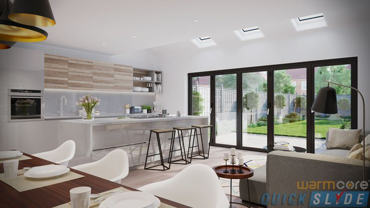 Transform and open entire façades in your home with our new #Warmcore #bifold #doors! These doors have achieved an excellent u-value as low as 1.0W/m2k, which means that very little heat escapes through the doors. Basically you can bring the lovely winter atmosphere inside without being cold! #Quickslide https://www.quickslide.co.uk/doors/warmcore-bi-fold-doors/