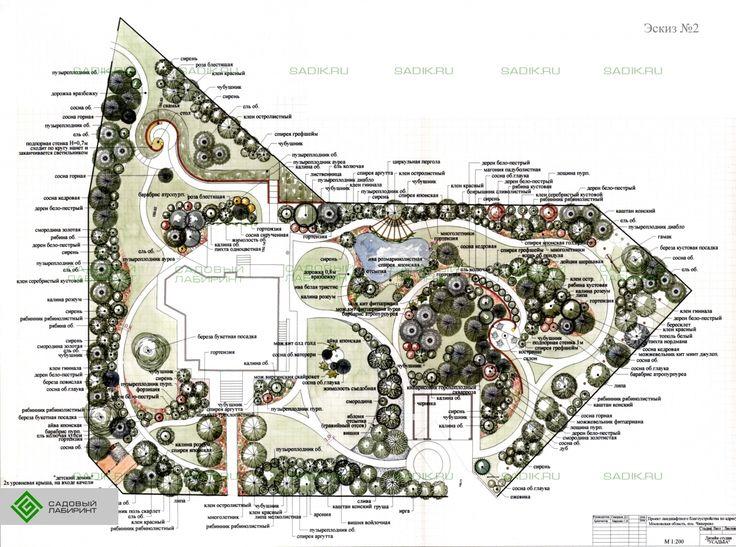 Ландшафтное проектирование вариант 2