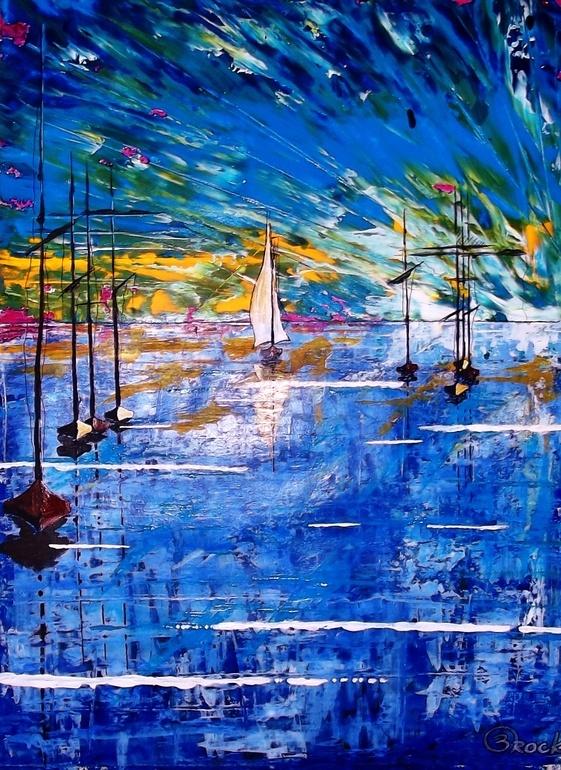 "Saatchi Online Artist: Kyle Brock; Acrylic, 2013, Painting ""Last One In II"""
