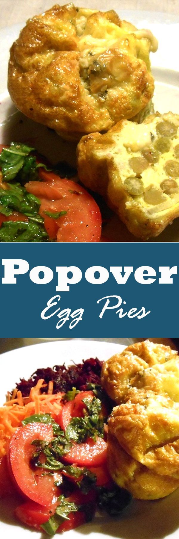 Popover Egg Pies is quite yummy with crumbled goat cheese, potatoes and peas | http://recipezazz.com