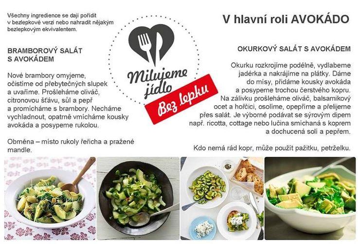 saláty z avokáda