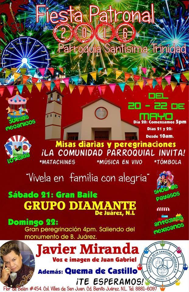 ¡Todos invitados a la fiesta patronal de la Parroquia Santísima Trinidad, en Juárez, Nuevo León!