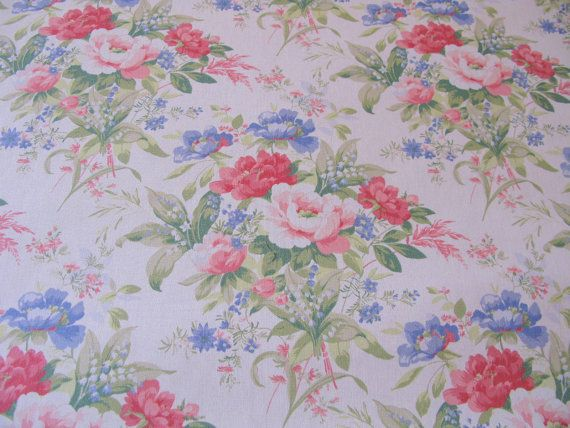 Shabby Chic Fabric By The Yard FLORAL UPHOLSTERY FABRIC Listing For 1 56 Inches