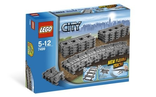 Lego City 7499 Straight  Flexible Tracks 24 PCS