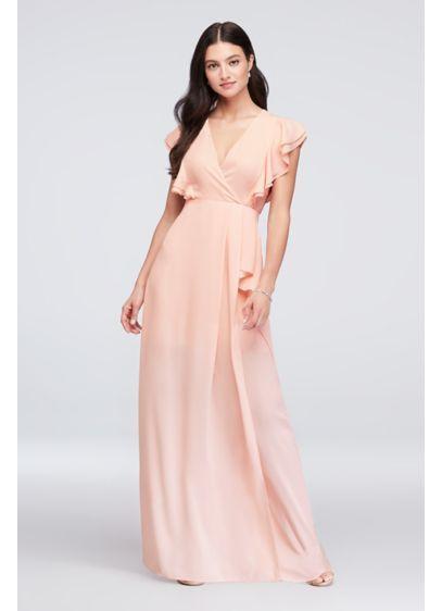 6caef3f88eb Flutter Sleeve Chiffon Bridesmaid Dress 264210 in navy