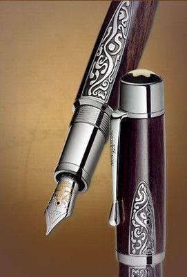 Montblanc Patron of Art Alexander von Humboldt Fountain Pen 101180, <3 scrollwork