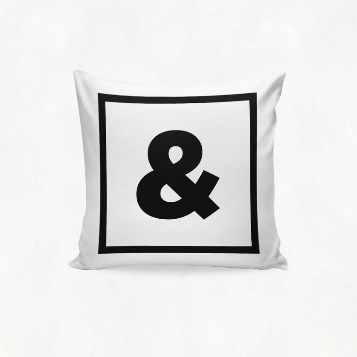 IMIMAH Monotone Monogram Letter outdoor Cushion - $38 + pp from IMIMAH.co #monotone #monogram #letter #lettercushion #letterpillow #blackandwhite