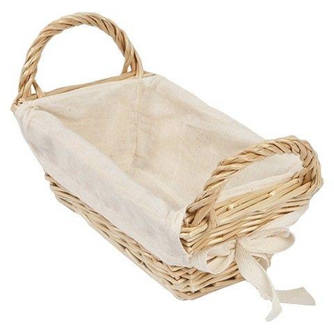 Burts Bees Baby Decorative Basket Rattan Storage With Cotton Liner
