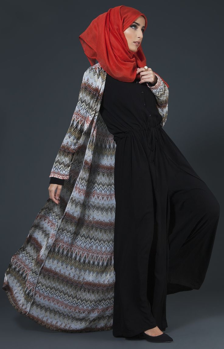 Winter Waves Kimono #AabCollection #WhatsNew #NewatAab #Kimono #Modestwear #Hijabi #Love