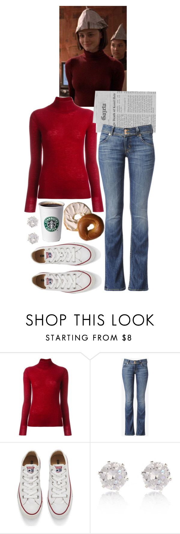 """Rory Gilmore Style"" by sewing-girl ❤ liked on Polyvore featuring Joseph, Hudson Jeans and Converse"