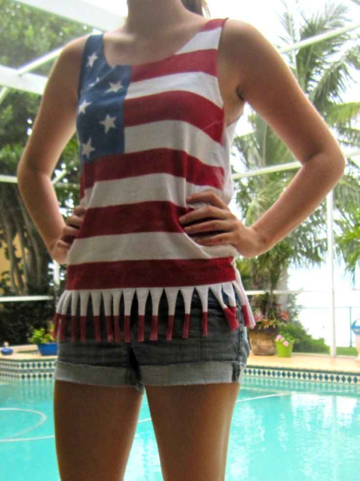 4th of July Tank  DIY  With Instructions n Photos    WithScissorsAndASpatula