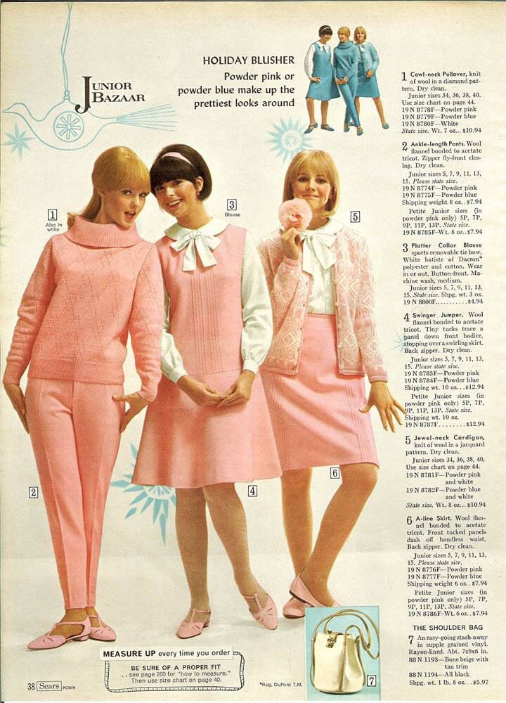 1960's Pink Fashions