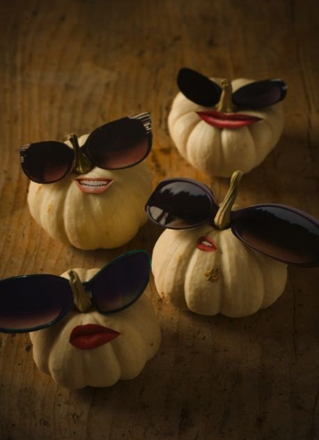 eyewear decorated pumpkins