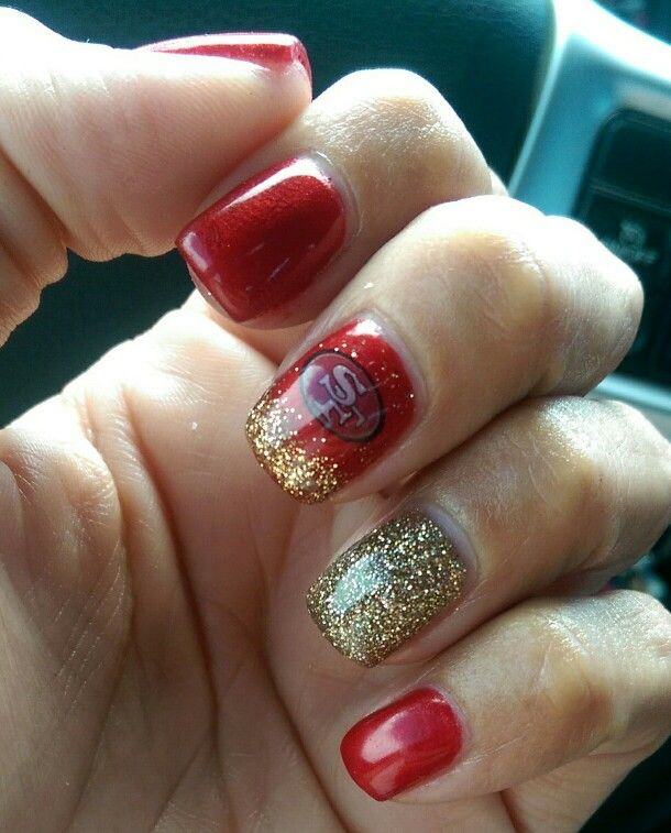 My new #49ERS nails