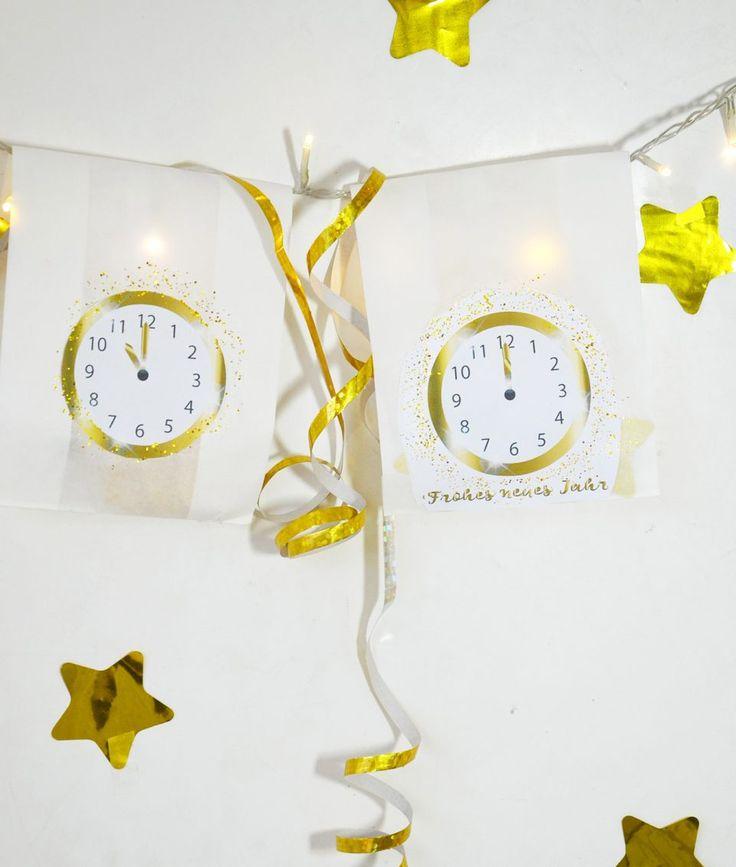 Silvester Countdown - Uhr zum Ausdrucken • Minidrops ...