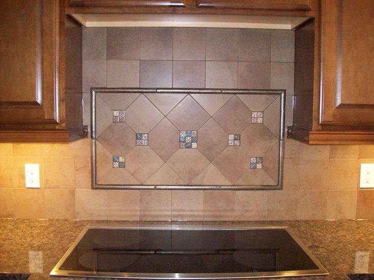 Kitchen Kitchen Colors Schemes With Ceramic Kitchen Tile And Wooden Floating Cabinet Lovely Kitchen Colors Schemes Ideas Added With Decorative Backsplash