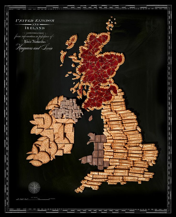 Food map of England artist Henry