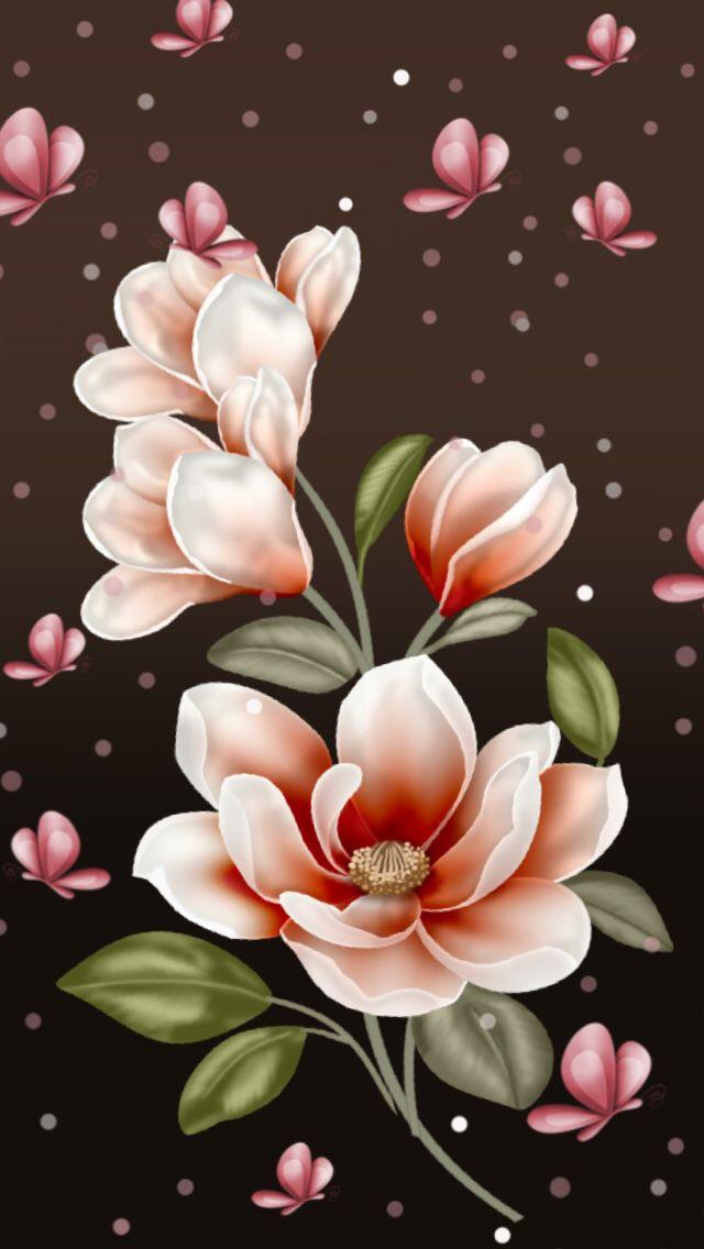 Wallpapers Flowers Iphone Fundo De Tela Celular Cores Floral