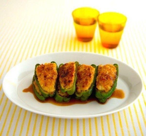 ふわふわピーマン肉詰め わさびポン酢ソース。 by SHIORI ...