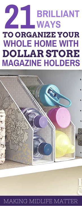 Dollar Store Magazine Holder Organization Tips