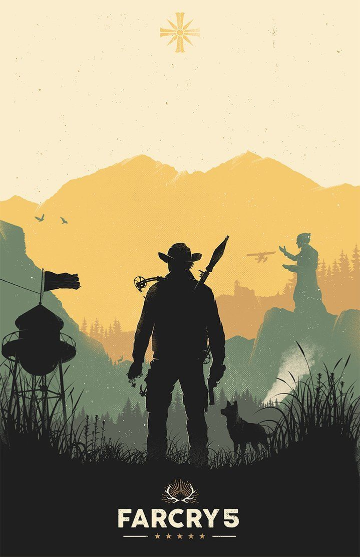 Far Cry 5 Poster Created By Felix Tindall Video Game Posters
