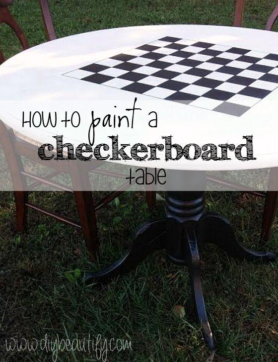 DIY checkerboard table                                                                                                                                                                                 More