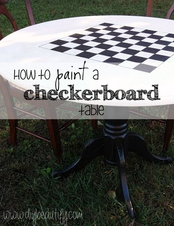 DIY checkerboard table                                                                                                                                                                                 More