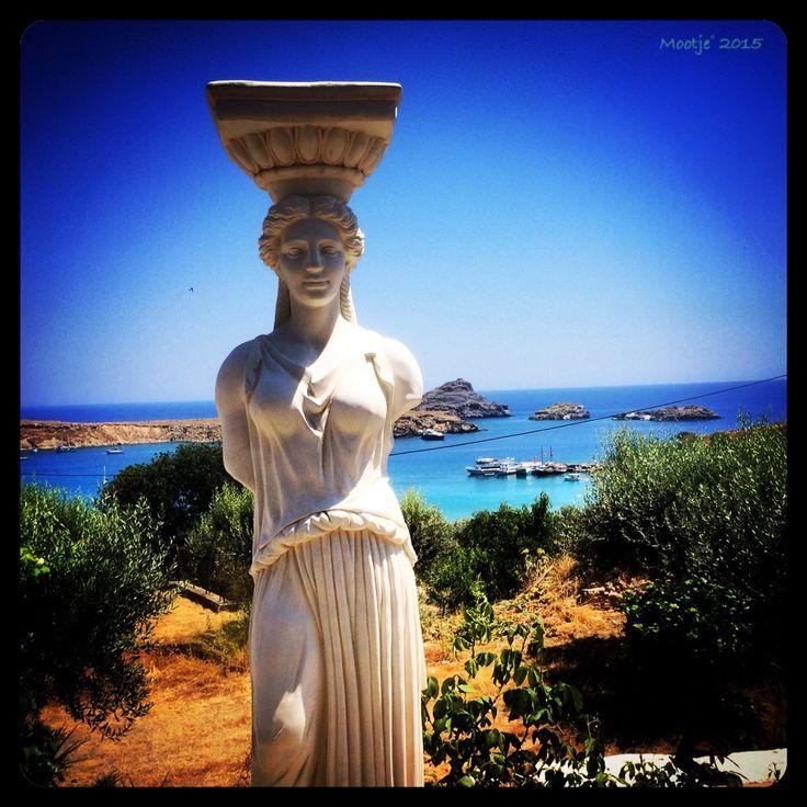 Rhodos lindos statue
