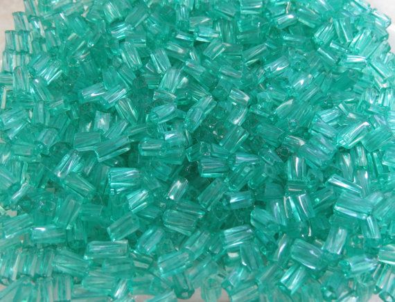 7x3.4mm Sol Gel Transparent Teal Czech Glass by beadsandbabble, $2.18