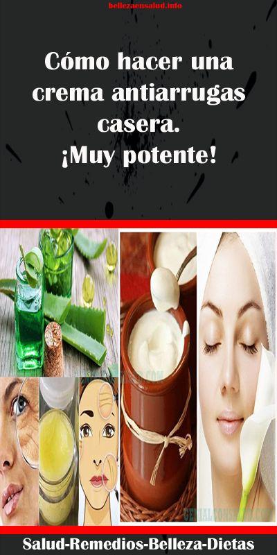 Cómo hacer una crema antiarrugas casera. ¡Muy potente! #..