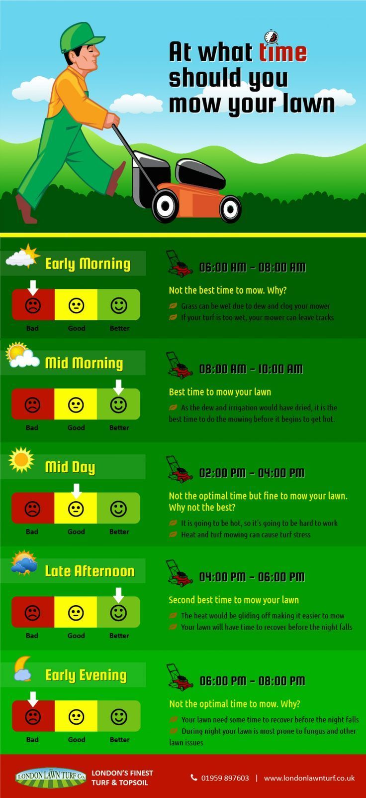 Best Time To Mow Your Lawn Lawn Mowing Business Lawn Care Business Lawn Care