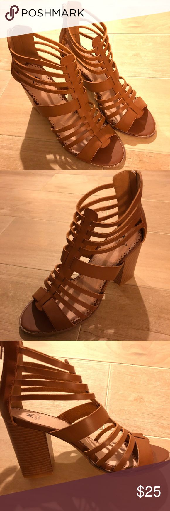 🆕 Camel Sandals Strappy Gladiator Casual Heels 8 New, in box  Labeled as 7.5 but feels like 8-8.5 Shoes Sandals