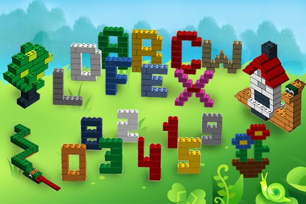 Free App : LEGO instructions and tutorials on how to build letters and figures from LEGO blocks