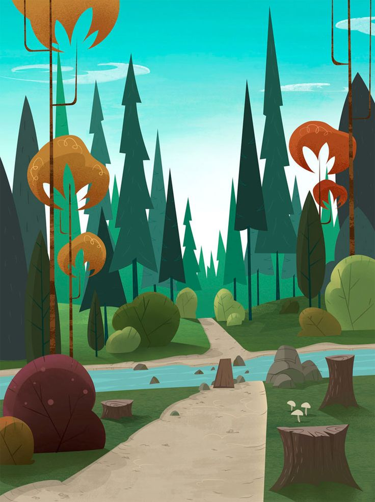 2D animation scenery by Caroline Van Den Abeele and Pascal Valdés for the Brazilian TV show 'Eliot Kid.'