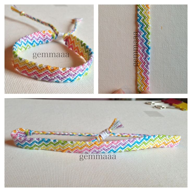 Zig zag friendship bracelet pattern number #4063 - For more patterns and tutorials visit our web or the app!