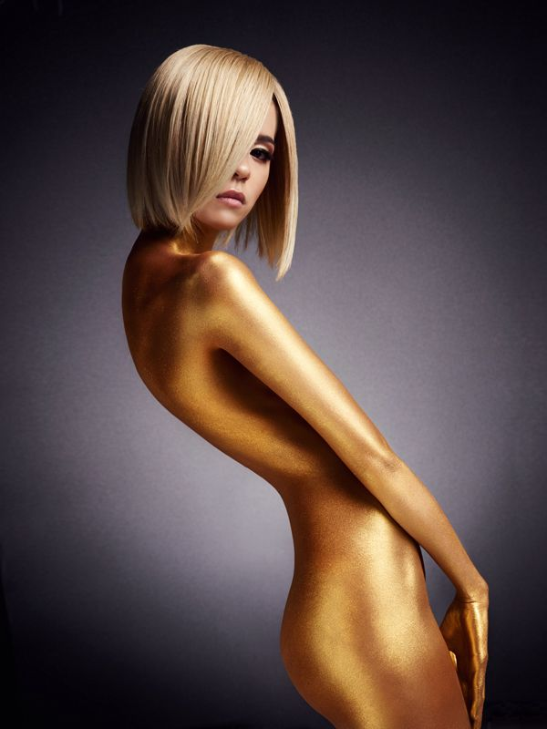 Golden lady on Behance