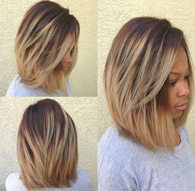 Cute Cut! -  #relaxedhairstyles Hair Beautiful, Hair Coloring, Hair Colors, Hair Closure, Blondes Bobs, Blonde Bobs, Ombre Bobs, Hair Style, Hair Extensions Virgin