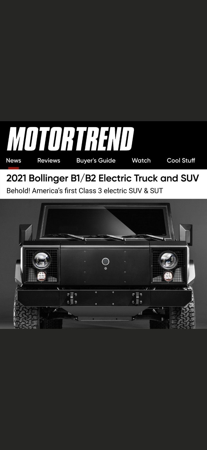 Motortrend If You Re Looking For A Pure Electric Off Road Optimized Class 3 Four Door Pickup Or Suv With A 5 000 Pound Payload And 7 500 Pound Towing Capacity