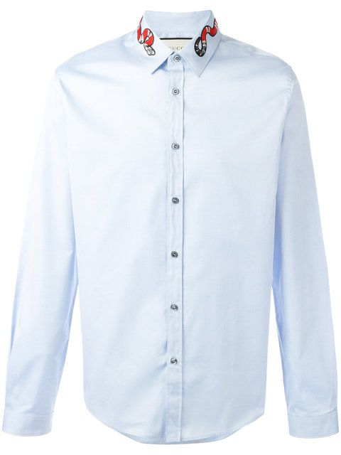 GUCCI Snake Collar Shirt. #gucci #cloth #shirt