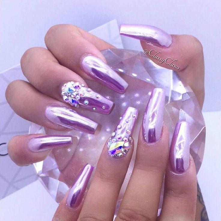 Purple Chrome Nail Art: The 25+ Best Purple Chrome Nails Ideas On Pinterest