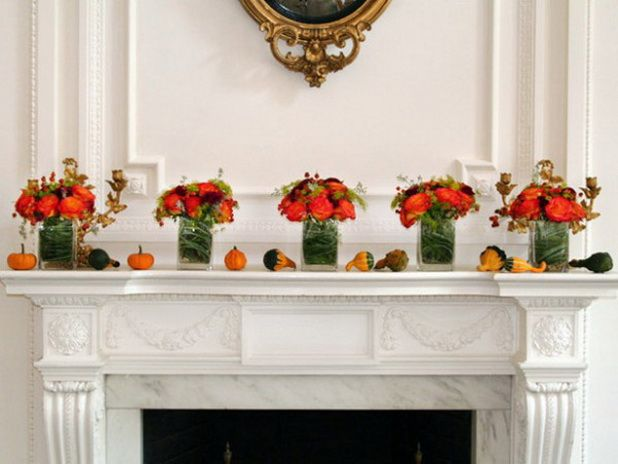 86 best Fall Fireplace mantel Ideas images on Pinterest Fall