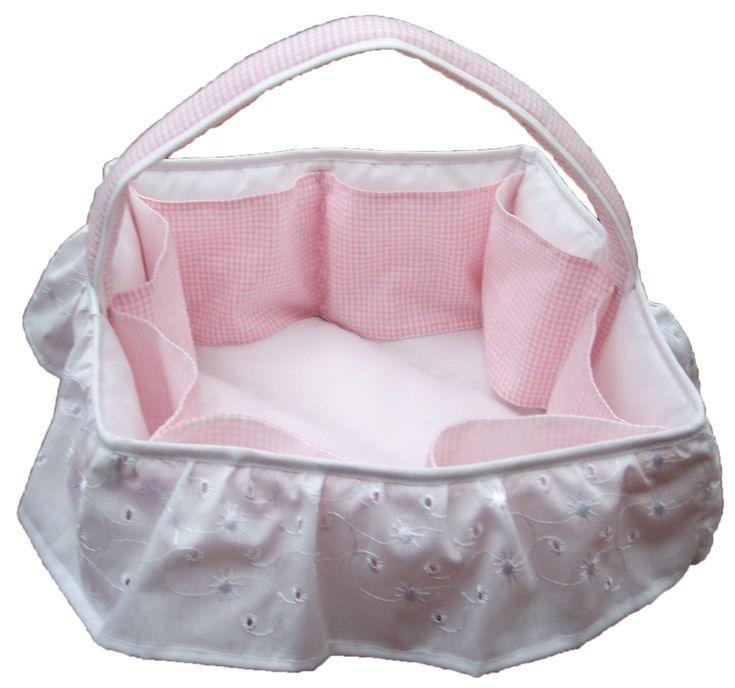 $45000 COP Canasta en tela para accesorios de bebé elaborada en tela