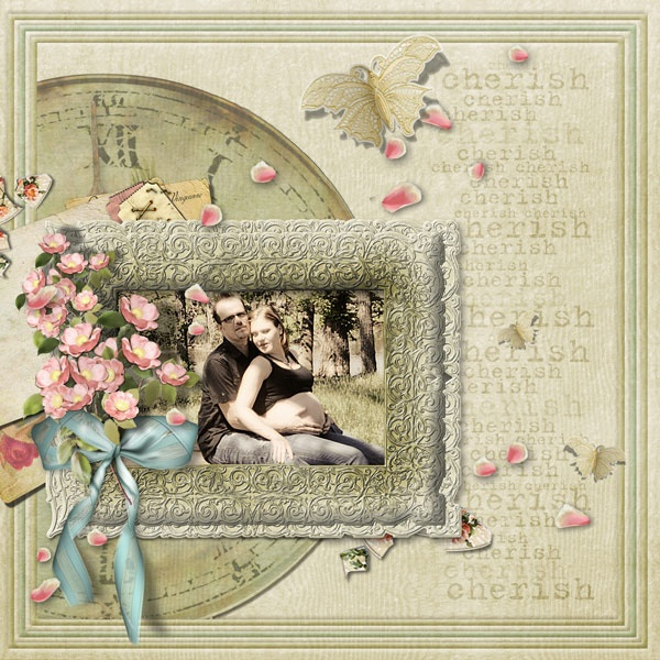 Gorgeous layout made with Spring Heritage by Lauren Bavin.