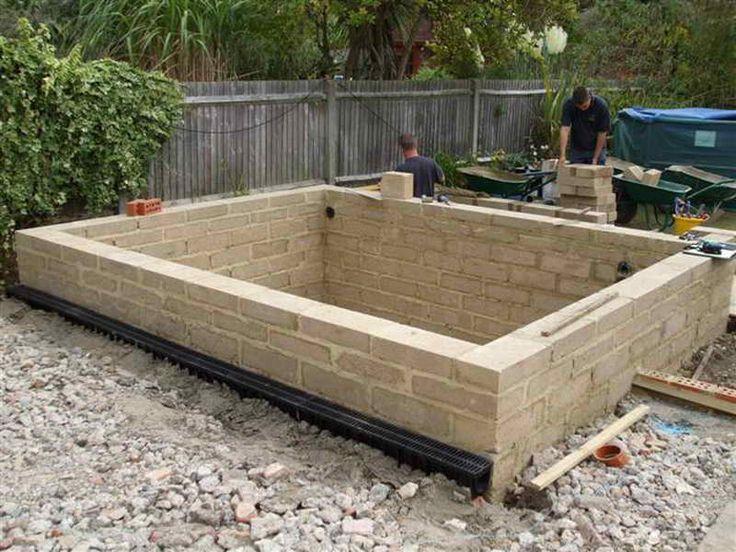 48 best cinder block ideas images on pinterest gardening for Koi pond construction plans